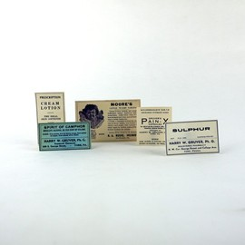 Victorian Pharmacy - Apothecary Medicine Bottle Labels, Victorian Pharmacy Ephemera