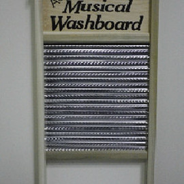 COLUMBUS WASHBOARD - Authentic Musical Family Size Stainless Steel Spiral Washboard