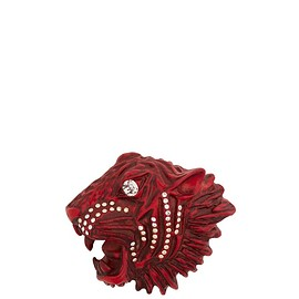 GUCCI - FW2018 Tiger head crystal-embellished brooch