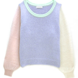 E Hyphen World gallery BonBon - Multi-knit Pullover