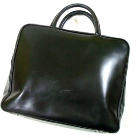 COMME des GARCONS青山special×KATSUYUKI - Black leather briefcase bag