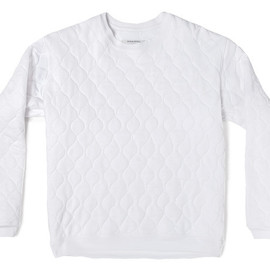 Patrik Ervell - Quilted Sweatershirt White