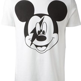 Neil Barrett - Mickey Mouse Thunder Print T-shirt