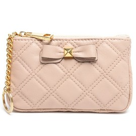 MARC JACOBS - BOW QUILTING SLG - CHAIN KEY POUCH