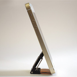 poddities - Click-Stand for iPhone5 ブラックレザー