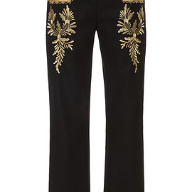Paco Rabanne - Pre-Fall 2019 Embroidered Crepe Straight-Leg Pants