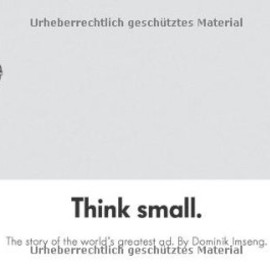 Dominik Imseng - Think Small: The Story of the World's Greatest Ad
