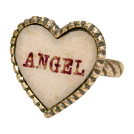 Katie - SWEET HEART angel ring
