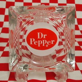 Fire King - Dr Pepper Ashtray