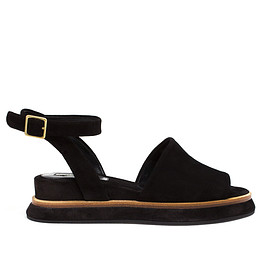 Dries Van Noten - SS2015 Suede Sandals with Ankle Strap