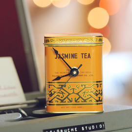 ReigrucheStudio - Small- Mustard Tea Tin Desk Clock