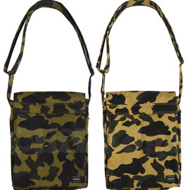 A BATHING APE - (エイプ)x PORTER(ポーター)1ST CAMO SHOULDER BAG