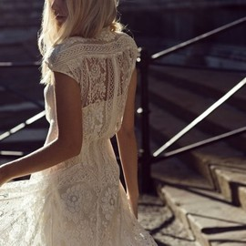 LOVER THE LABEL - Lover Capped Sleeve Wiccan White Lace Dress