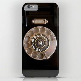 society 6 - OLD BLACK PHONE iPhone & iPod Case
