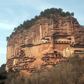 The Maijishan Grottoes in northwest China