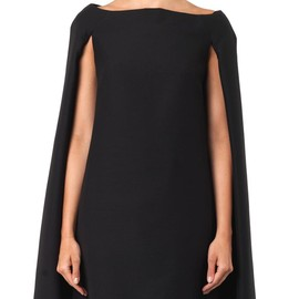 VALENTINO - Wool-blend cape dress