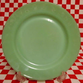 Jadeite Magic Gallery - Fire King Jadeite Restaurantware G306 Dinner Plate #22