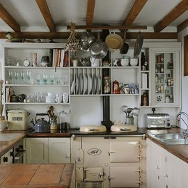 open shelves farm kitchen