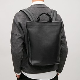 COS - Leather tote backpack