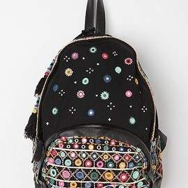 urban outfitters - Ecote Embroidered Mirror Tassel Backpack