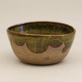 Amanda Gentry - Stoneware Bowl with Scalloped Glaze, tea dust