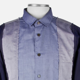 COMME des GARÇONS SHIRT - Blue Shades Deconstructed Cotton Shirt