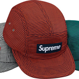 Supreme - Houndstooth Dot Camp Cap