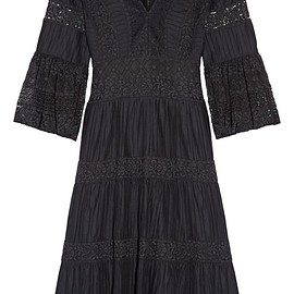 Temperley London - Desdemona pleated cotton-voile and guipure lace dress