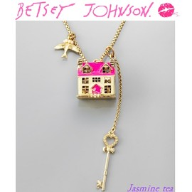 BETSEY JOHNSON - House Necklace