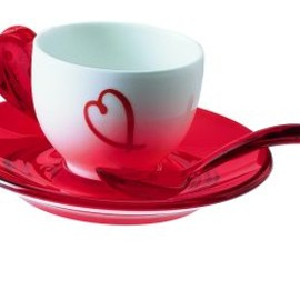 guzzini - Love Espresso cup  and saucer set