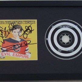 Rage Against the Machine - Evil Empire Hand Signed Autographed Compact Disc Cd Framed