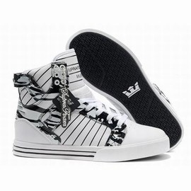 supra skytop skateboard white black shoes mens