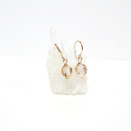 in her - K10 Herkimer diamond Wrapping earrings