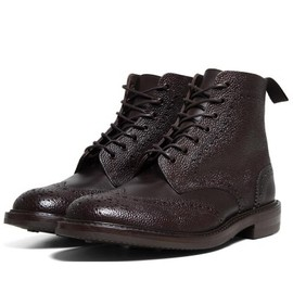 SOPHNET. x Tricker's - Wing Tip Boots (Brown)
