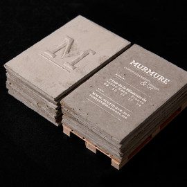 Murmure - Concrete business card