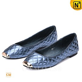 CWMALLS - CWMALLS® Designer Leather Quilted Flats CW307007
