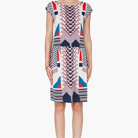 Marc By Marc Jacobs - Marc By Marc Jacobs Cream Tinka Print Dress for Women | SSENSE
