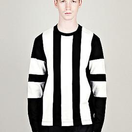 COMME DES GARCONS SHIRT - STRIPED LONG SLEEVE JERSEY