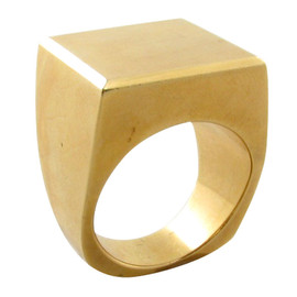 GEORG JENSEN - chic geometric yellow gold ring