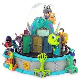 Rare Retired Monsters Inc Disney Snow Globe