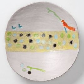 Anthropologie - Perched Birds Serving Bowl