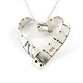 Victoria Mason - heart tape measure necklace