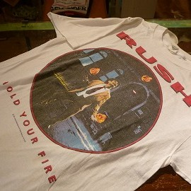 """RUSH - 「<used>'87 CHED """"RUSH""""TEE white""""made in USA"""" size:L 10000yen」販売中"""