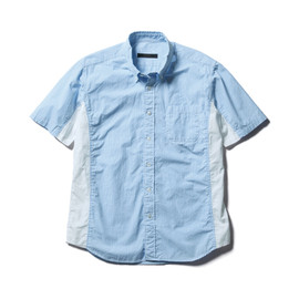 SOPHNET. - S/S STRIPE SIDE PANEL B.D SHIRT