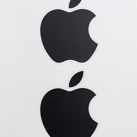 Apple - Black Logo Sticker