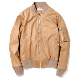 nonnative - BOMBER JACKET - COW LEATHER
