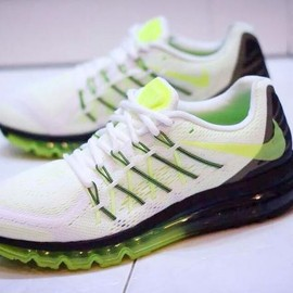 Nike - NIKE AIR MAX 2015 WHITE/BLACK-VOLT