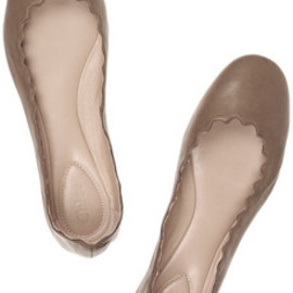 Chloé  - Metallic leather ballet flats