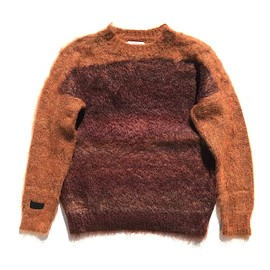 PEEL&LIFT - mohair jumper / ochre x splashed brown