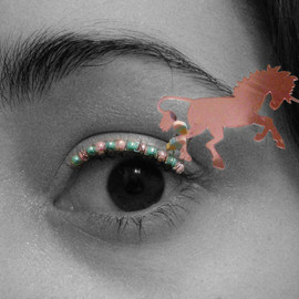EyelashJewelry - Pastel Unicorn Eyelash Jewelry - false eyelashes for raves, burning man, festivals